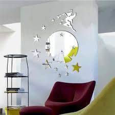 Decoration Star Wall Decals Home by Removable Fairy Star Mirror Decor Art Wall Sticker Home Mural 3d