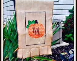 fall garden flag pumpkin flag personalized fall flags