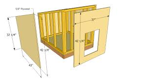 free xl dog house plans home act