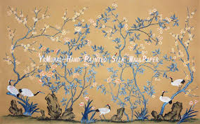 hand painted wallpaper murals 75 best chinoiseries images on hand painted chinese style silk wallpaper murals yrs 1129x702
