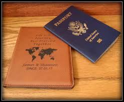 Passport cover leather personalized passport holder custom