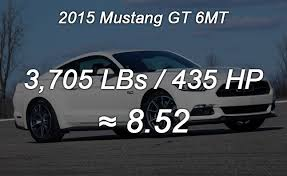 mustang gt curb weight 2015 ford mustang weight to power ratios explored autoguide com