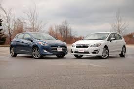 grey subaru impreza hatchback 2016 hyundai elantra gt vs 2015 subaru impreza autoguide com news
