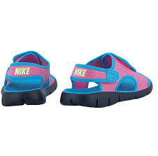 girls kids nike sunray adjust 4 gs ps pink sandals 386520 612