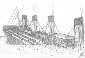 coloring pages of the titanic drawn titanic pencil and in color drawn titanic