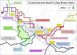 grand map grand junction area road rides grand junction road cycling maps