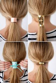 hair cuff tie one on 2 materials 4 diy hair cuffs brit co