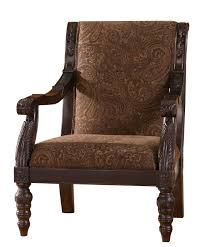 Traditional Accent Chair Bradington Traditional Truffle Fabric Accent Chair Living Rooms