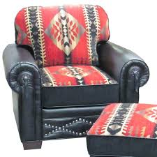 southwestern chairs and ottomans red feather southwestern chair 1500 can be customized fabric