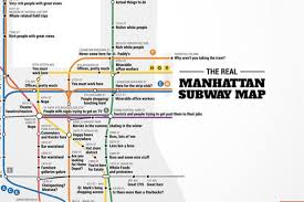 Boston T Train Map by Crude Subway Map Tells The Truth About Each Manhattan Stop Curbed Ny