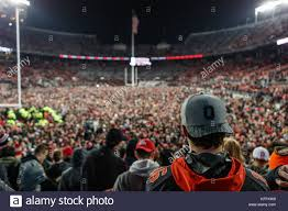 ohio state buckeye fan october 28th 2017 an ohio state buckeye fan looks on at the sea of