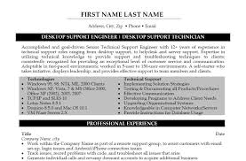 desktop support engineer sample resume resume for your job