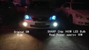 Fog Light Led Bulbs by Senzeal 140w 1200lm Sharp Chip Led Bulb 5500k White H11 Fog Lamp