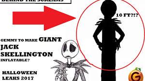 halloween 2017 jack skellington 10 foot inflatable leaked youtube