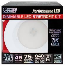 feit electric ledr6 3k led dimmable retrofit kit led household