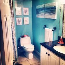 shocking bathroom ideas in basement image for beach themed concept