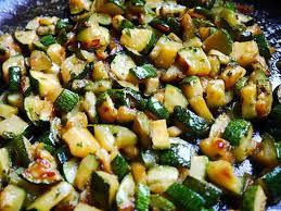 cuisiner courgettes poele recette de poelé de courgettes