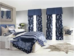 Navy Blue And White Curtains Bedroom With Blue Curtains Aciu Club