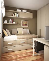 bedroom ideas for teenage guys with small rooms brown stained wood
