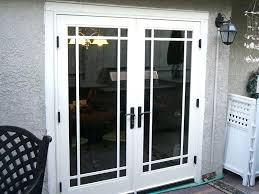 Out Swing Patio Doors Wooden Door Patio Doors Outswing With Screen Panel And Home