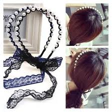 korean headband korean style string pearl ribbon b end 12 10 2017 12 15 am