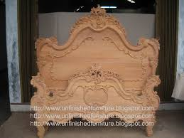 unfinished furniture wooden frame french mahogany bed interiør