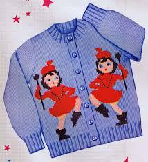 drum knitting pattern 1950s knit o graf pattern girls drum majorette cardigan