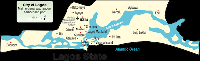 lagos city map history of lagos