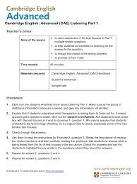 cambridge english advanced from 2015 listening part 1 v3