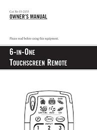 radio shack 6inone remote manual remote control videocassette