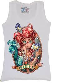 tattoo ariel tank disney ariel siren little mermaid tattoo