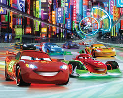 cars disney disney cars neon bedroom wallpaper mural 10ft x 8ft walltastic