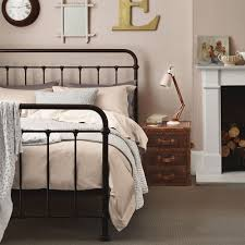bedroom furniture king size wrought iron bed metal platform bed