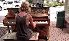 Blind Boy Plays Piano Homeless Man Stuns Passersby By Playing Styx U0027s U0027come Sail Away U0027 On