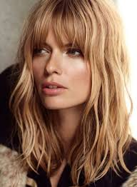 pictures on hairstyles medium length layered with bangs cute