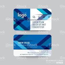 Credit Card Design Template Blue Diagonal Line Business Card Design Stock Vector Art 638740040