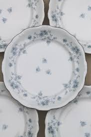 set of 10 blue garland china salad plates vintage bavaria