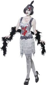 1920s Halloween Costume Women U0027s Flapper Zombie Costume 1920 U0027s Zombie Halloween Costume