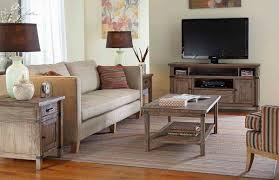 Kincaid Bedroom Furniture Sets Rustic Weathered Gray Entertainment Console With Electrical Outlet