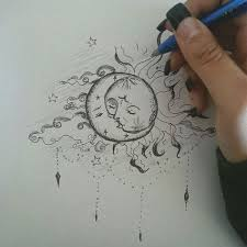 beautiful sun and moon possibly on my back