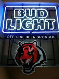 bud light neon signs for sale bud light cincinnati bengals nfl sports neon sign real neon light
