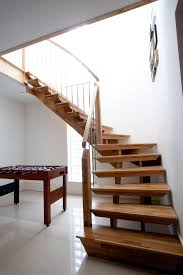 Contemporary Railings For Stairs by Awesome Modern Simple Staircase Design Ideas With Varnished Wooden