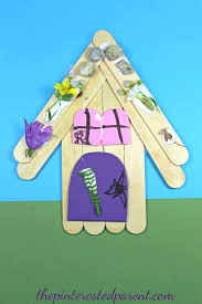 popsicle stick nature fairy house u2013 the pinterested parent