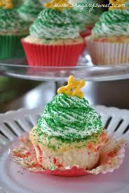 christmas tree confetti cupcakes shugary sweets