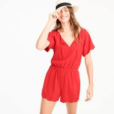 scalloped romper women beach cover ups j crew