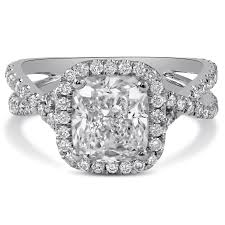twisted band engagement ring cushion cut twisted band engagement ring c29