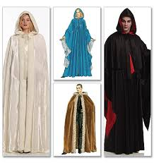 Halloween Costume Cape M5957 Loose Fitting Capes Contrast Hood Lining