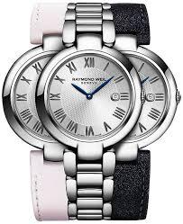 leather strap bracelet watches images Raymond weil women 39 s swiss shine stainless steel bracelet watch tif