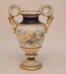Meissen Vase Value Meissen Oversized Vase With Elaborate Snake Handles Cobalt