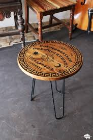 Ouija Coffee Table by Carved Wood Ouija Spirit Board End Table Giveaway Fat Bison